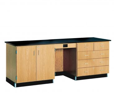 Diversified Woodcrafts 8' Instructor's Desk with Phenolic Resin Top