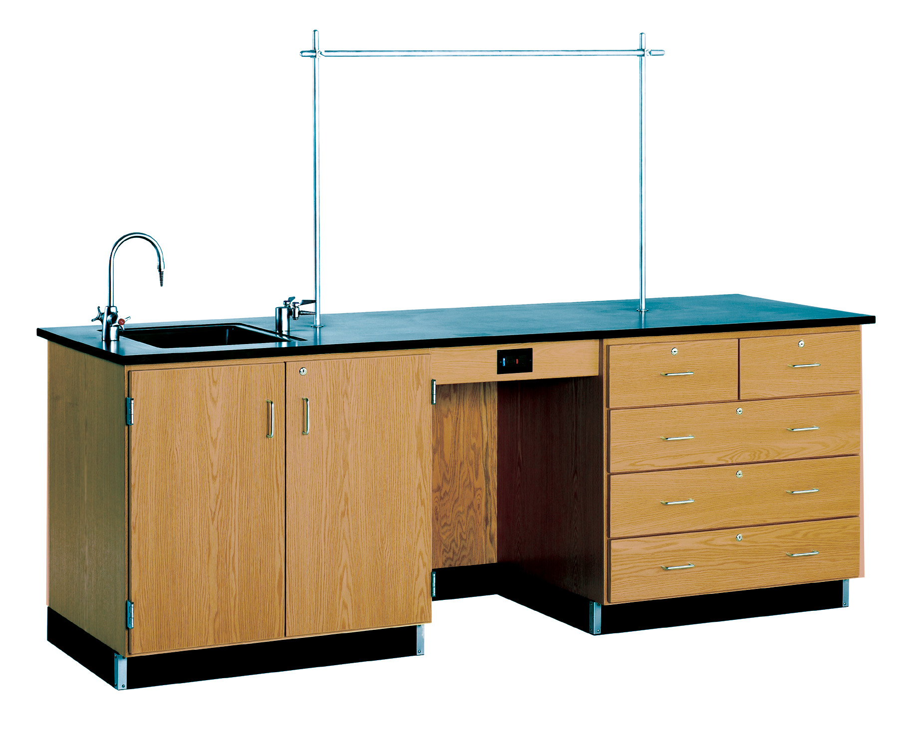 Diversified Woodcrafts 8' Instructor Desk with Sink & Cabinets