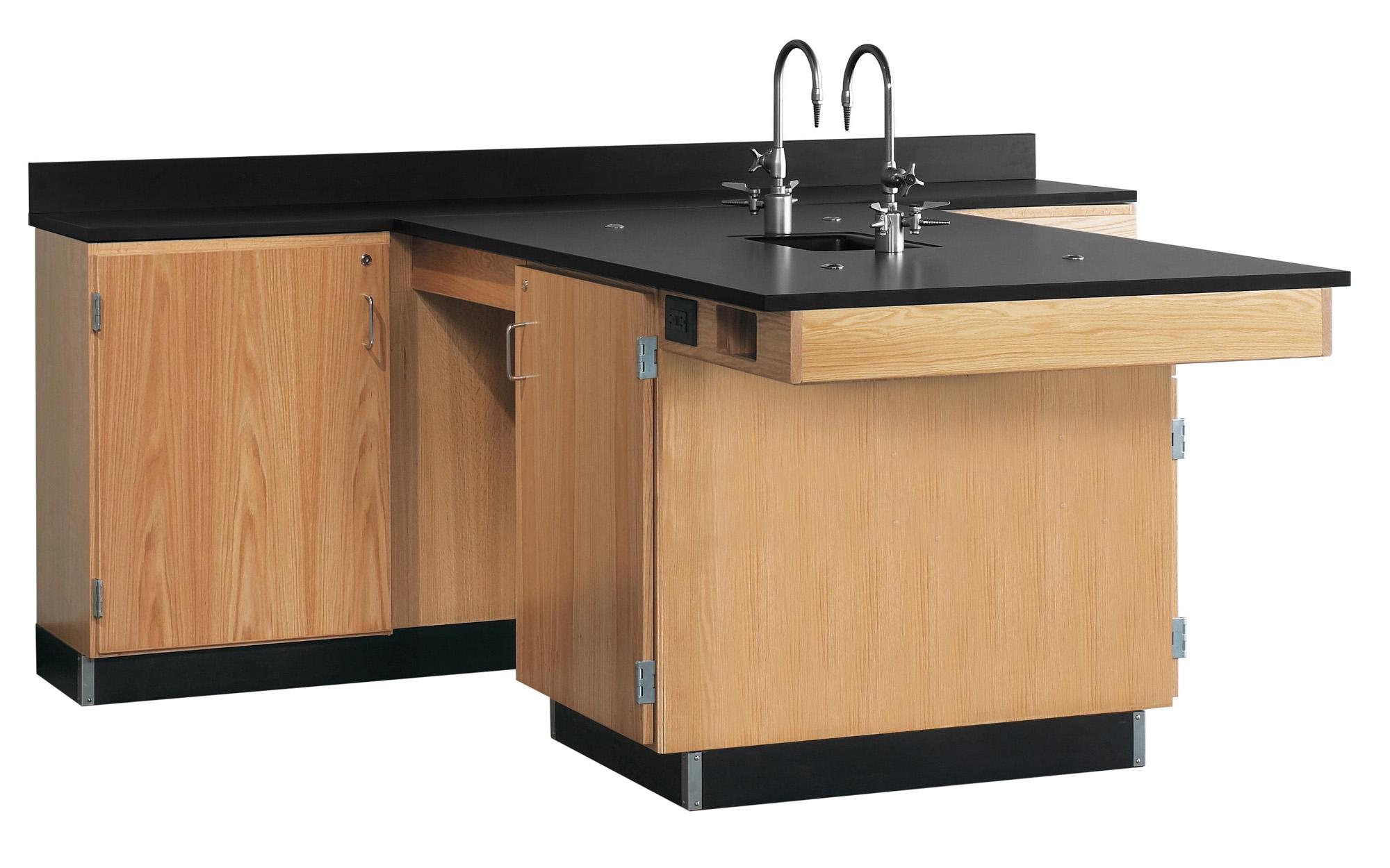 Diversified Woodcrafts Perimeter Workstation, Door Unit - Phenolic Top