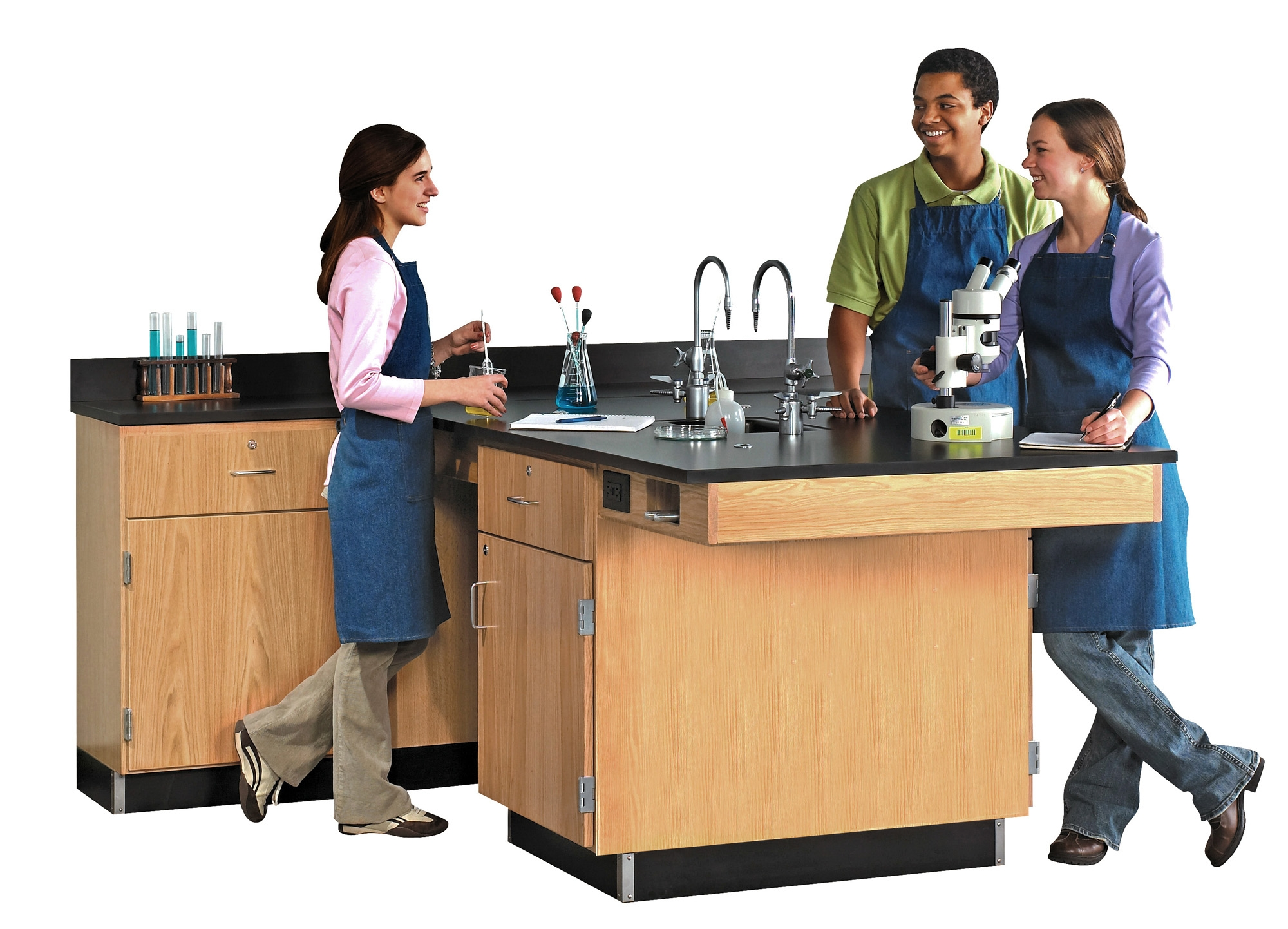 Diversified Woodcrafts Perimeter Workstation, Door & Drawer Unit - Epoxy Top