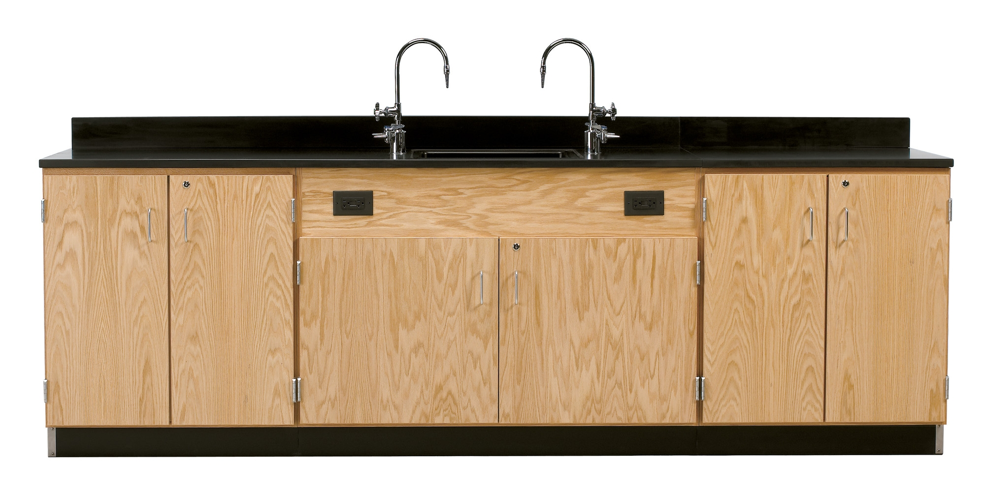 Diversified Woodcrafts Wall Service Bench with Cabinets - Epoxy Top