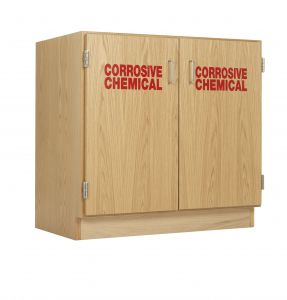 Diversified Woodcrafts Corrosive Chemical Storage Double Cabinet