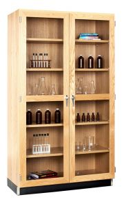 Diversified Woodcrafts Storage Cabinet with Glass Doors