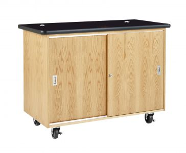 Diversified Woodcrafts Economy Mobile Lab Table & Storage - Rod Sockets