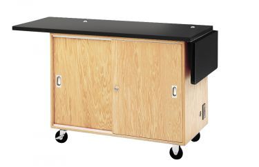 Diversified Woodcrafts Mobile Lab Table & Storage - Rod Sockets