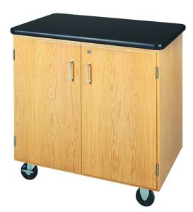 Diversified Woodcrafts Mobile Storage Cabinet with Plastic Laminate Top