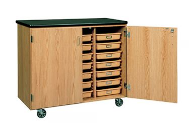 Diversified Woodcrafts Mobile Tote Storage Cabinet