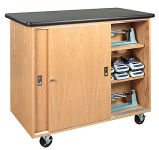 Diversified Woodcrafts Mobile Storage Cabinet for Balances