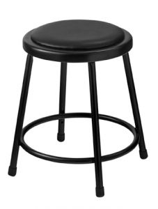 "5 PACK NPS 6400 Series 18"" Black Vinyl Padded Stool"