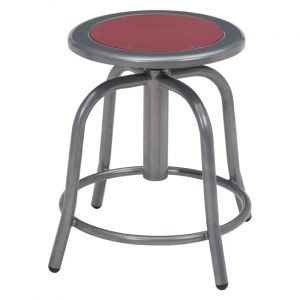 NPS 6800 Series Height Adjustable Gray Swivel Stool