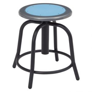NPS 6800 Series Height Adjustable Black Swivel Stool