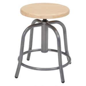 NPS 6800 Series Height Adjustable Wooden Swivel Stool