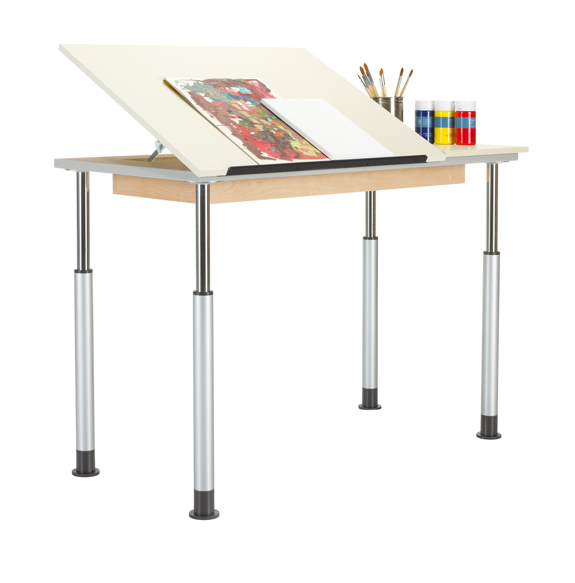 Diversified Woodcrafts Height Adjustable Drawing Table, Single Top