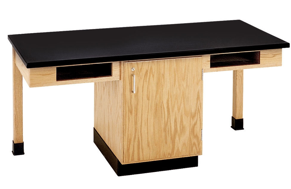Diversified Woodcrafts 2 Station Table, Bookcubbies - Plastic Laminate Top