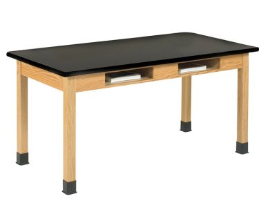 Diversified Woodcrafts Laminate Science Table with Book Cubbies