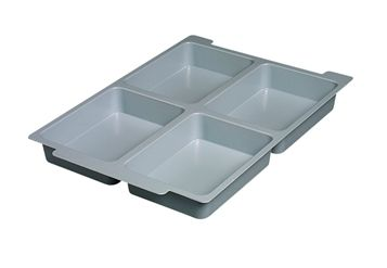 6 Pack Gratnells Molded 4 Section Insert for F1 Trays