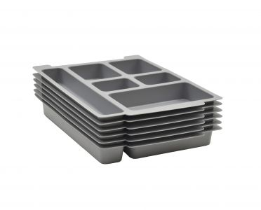 6 Pack Gratnells Molded 6 Section Insert for F1 Trays