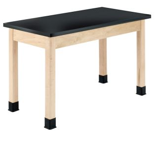 Diversified Woodcrafts Maple Science Table with Epoxy Resin Top