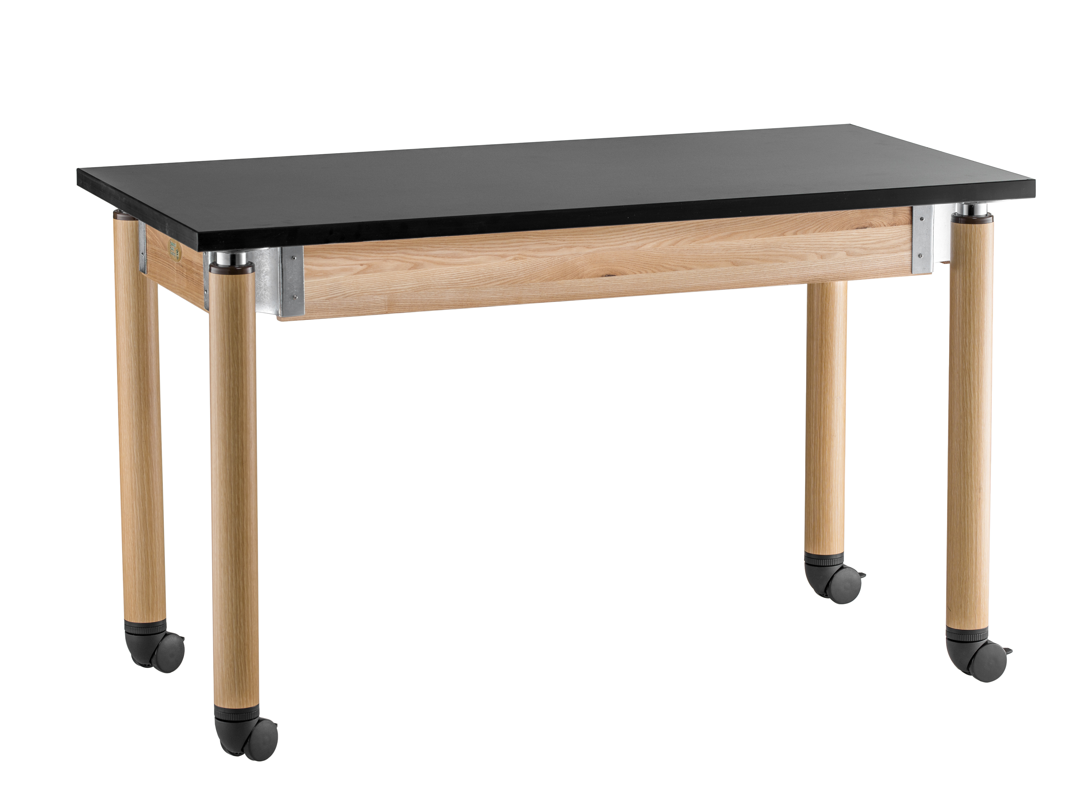 NPS Adjustable Height Chemical Resistant Science Lab Table with Casters