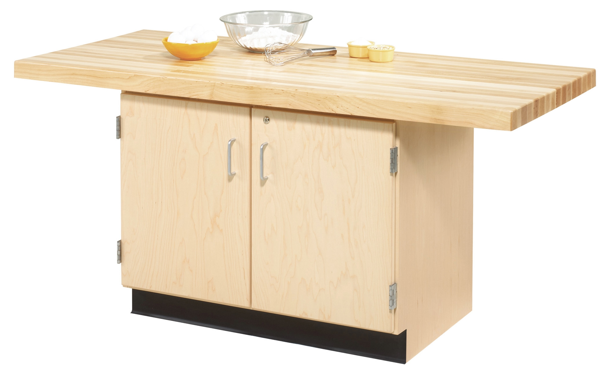 Diversified Woodcrafts 2 station Workbench with Cabinet