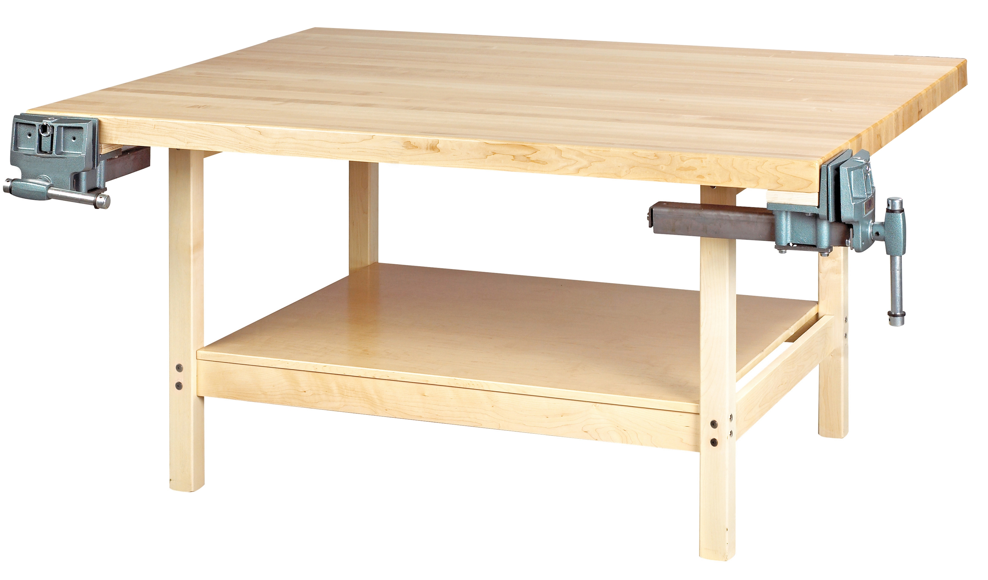 Diversified Woodcrafts 4 Station Workbench with 2 Vises