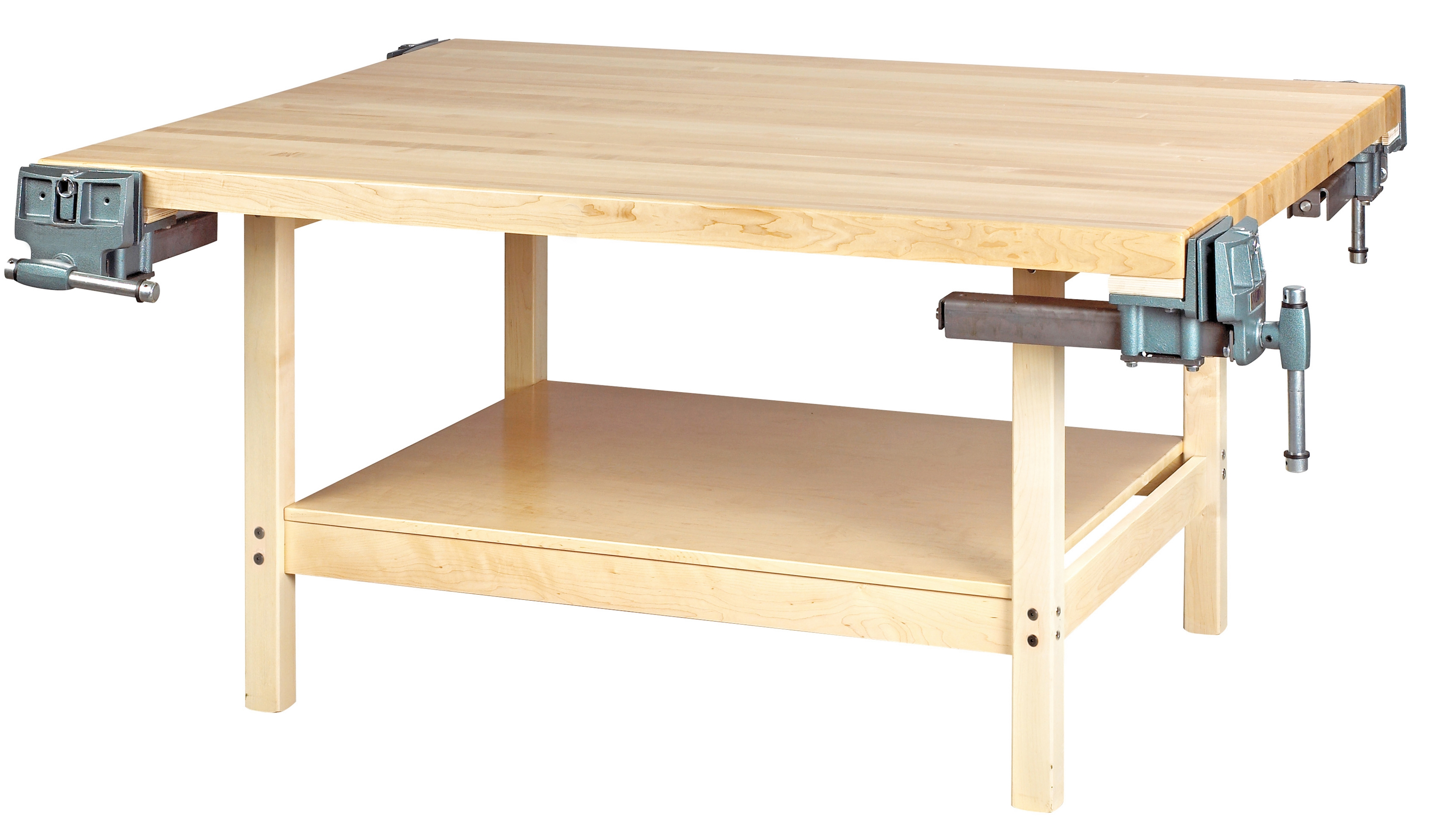 Diversified Woodcrafts 4 Station Workbench with 4 Vises