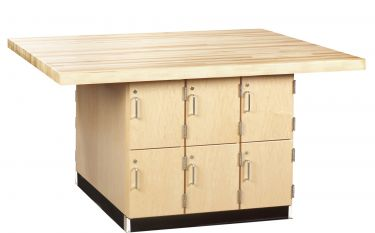 Diversified Woodcrafts 4 Station Workbench with Lockers