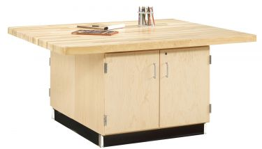 Diversified Woodcrafts 4 Station Workbench with Cabinet