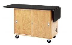 Diversified Woodcrafts Mobile Lab Table & Storage - Solid Top