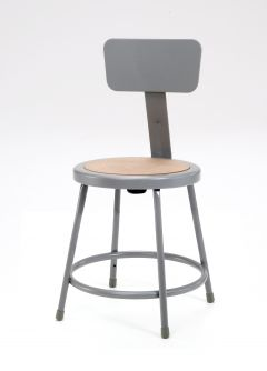 "5 PACK NPS Lab Stool with Backrest - 18"" Seat Height"
